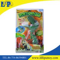 New design green big head dinosaur toy with IC