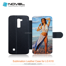 Hot sale Flip Sublimation leather phone case for LG K10, Pu Leather Phone Cover