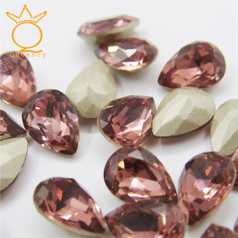 2018 fashion shape stones Beautiful Crystal Stones For hair clip
