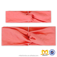 Coral Mom And Me Cotton Headband Twisted Knotted Knot Turban Headband