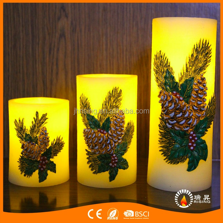 Flickering Flameless led candle paraffin wax christmas holiday