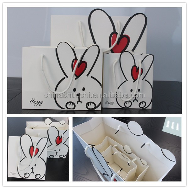 Hot selling biodegradable cute gift paper bag making machine with your own logo