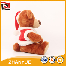 Top quality outdoor christmas gift bear plush stuffed toys