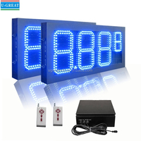 "10"" 8.889 Outdoor LED gas price board for station"
