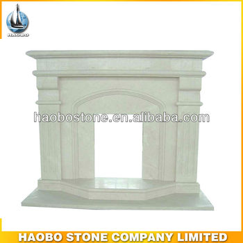 Europe Design White Surround Marble Fireplace