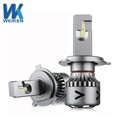 WEIKEN New Products Auto Parts hot Super bright 6000K white LED headlight kits h4 h7 h11 led bulbs