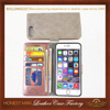 100% Fit For iphone 7 leather wallet case,wallet leather phone case for iphone 7plus