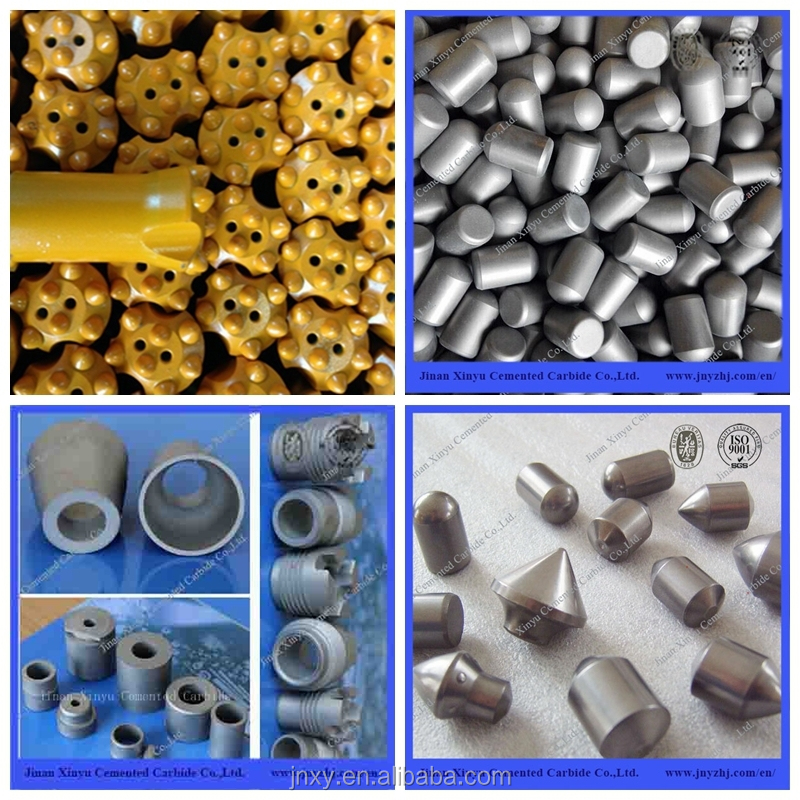 For rock drilling Tungsten Carbide 34mm-43mm Taper Drill Button Bits