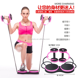 Standard Duo Exercise AB Roller Wheel Slim Trim Tone Back Abs Gym Workout