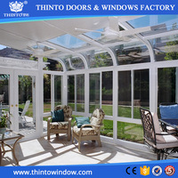 Beautiful big aluminum frames large glass sunroom for garden