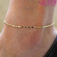 Barefoot Chain Simple Gold Or Silver Plated Box Chain Anklet Jewelry Anklet Chain O01