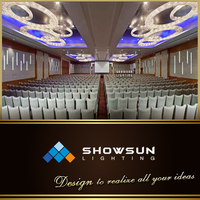 Guzhen customization grand circle pendant light for Conference hall