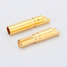 Male Female 3.5mm gold plated bullet connector banana plug for esc motor