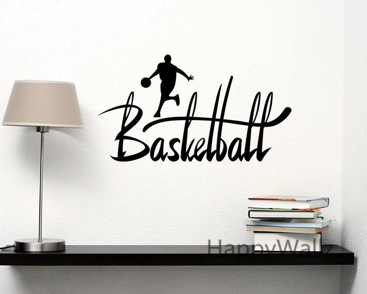 Basketball Quotes Sports Motivational Quote Wall Sticker DIY Decorative Basketball Inspirational Sports Wall Decal Quotes Q102