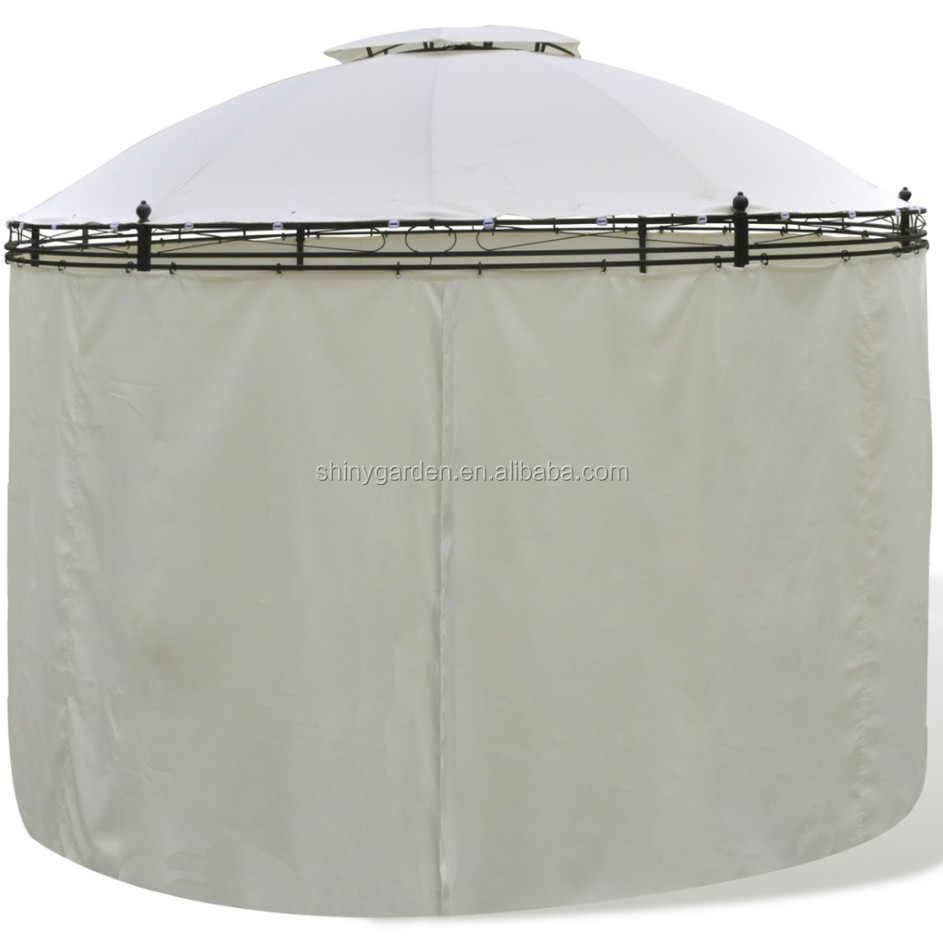 Outdoor Party Tent Hexagonal Steel Gazebo with Netting