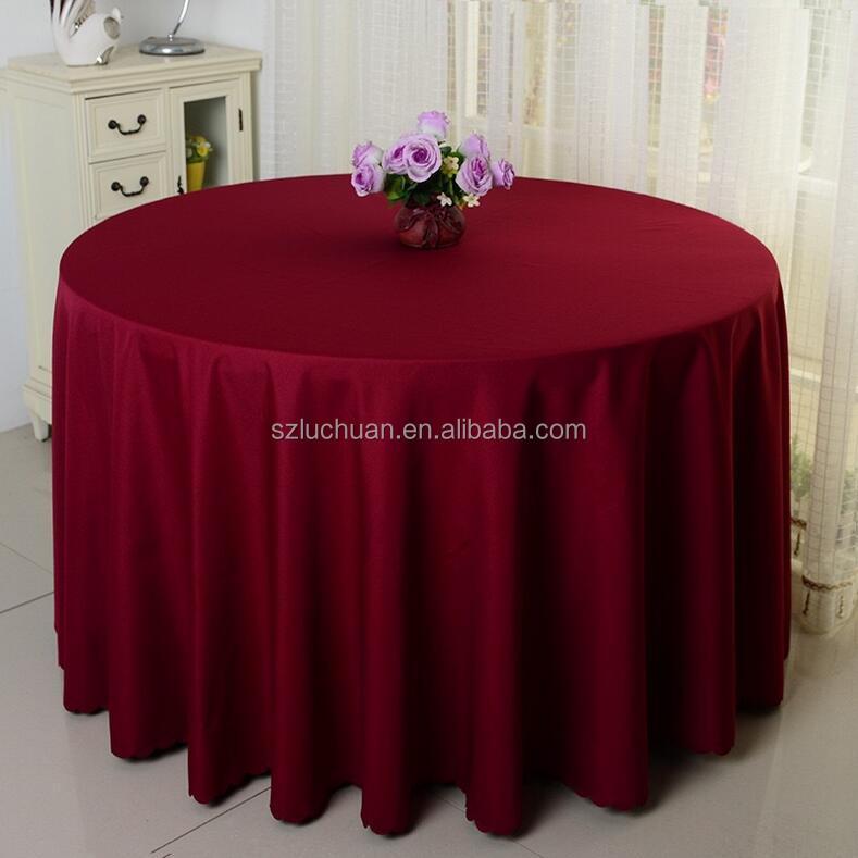 Polyester Hotel Banquet Wedding Non Slip Tablecloth