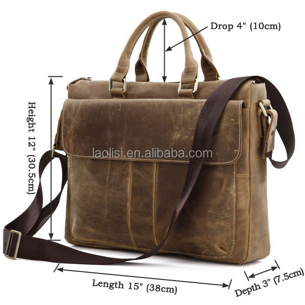 crazy horse leather handbag shoulder bag for men