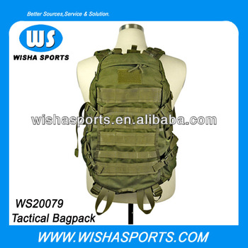 Big Capacity 1000D Nylon Wearable Rubber Waterproof Military Men's Camping backpack for hike or travel