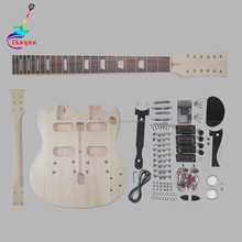 wholesaler high quality double neck electric guitar kit