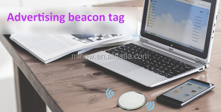 smart wearable UUID programmable iBeacon tag URL UID ble beacon with push button