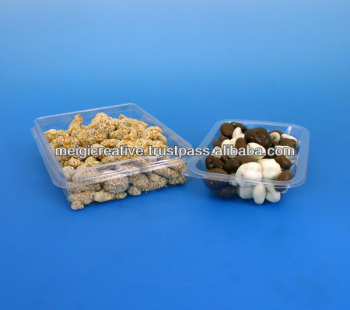 Custom Plastic PET Food Grade Trays, Food Snack Packaging