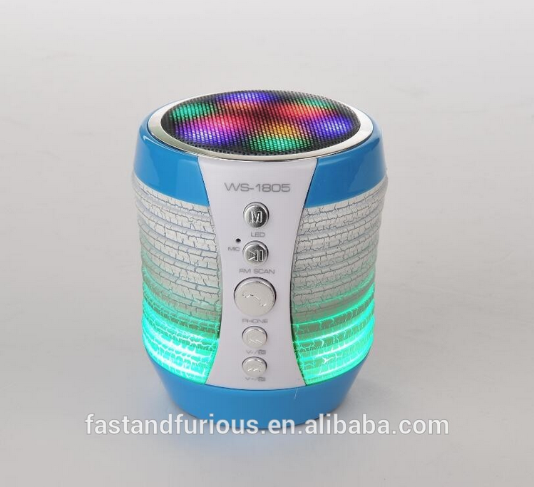 Portable mobile USB Mini Colorful Hifi Wireless <strong>Speaker</strong> with led Disco flashlight