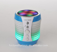 Portable mobile USB Mini Colorful Hifi Wireless Speaker with led Disco flashlight