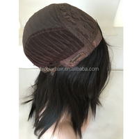 High End Quality Mongolian Hair Silk Top Straight Multi Directional Jewish Wig
