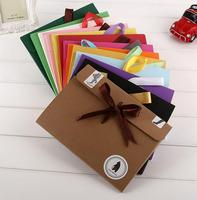 Paper Cardboard Envelope 3D Christmas Cards Holder Box 250gsm 24*18*0.5cm Mix Color with Bowknot Ribbon Stock