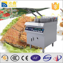 Chips and fish fryers deep fryer oil filter machine with Double baskets induction electric fryer
