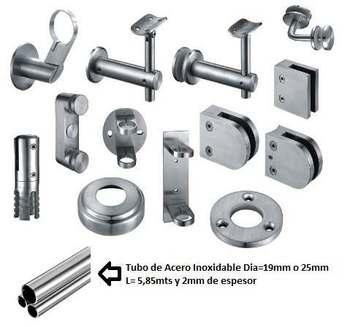 Herrajes y accesorios acero inoxidable barandas pasamanos for Fabrica de herrajes para toldos