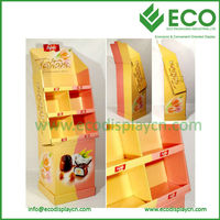 ECO 4 Cells Popular Paper Corrugated Display for Cake Display Racks