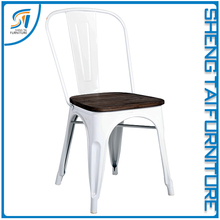Industrial stacking vintage high back metal cafe chair furniture