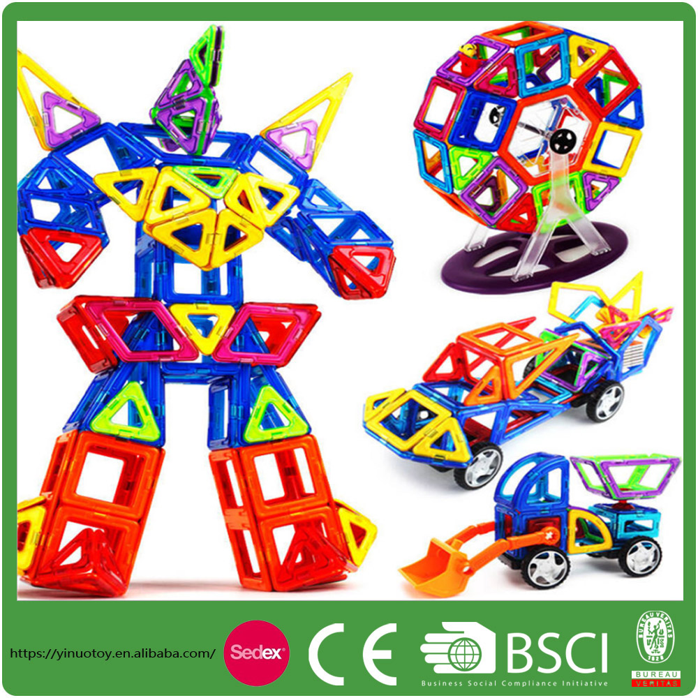 Plastic Building Block Splicing Toy Educational Magnetic Construction Children toys