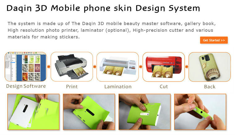 Protable Mobile Skin Machine for Small Home Business
