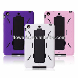 FL3224 Guangzhou 2013 hot selling shockproof heavy duty hybrid rubber case for ipad mini
