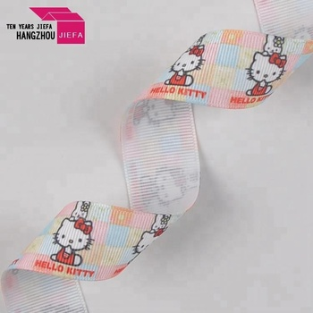 Printed nylon satin polyester ribbon