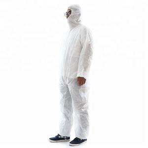 chemical protective suit PP+PE disposable coverall With hood without boots