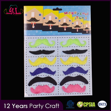 New Premium 2017 Rainbow Colors MOOD MUSTACHE SET Costume Disguise Disco Party Halloween Fake Beard