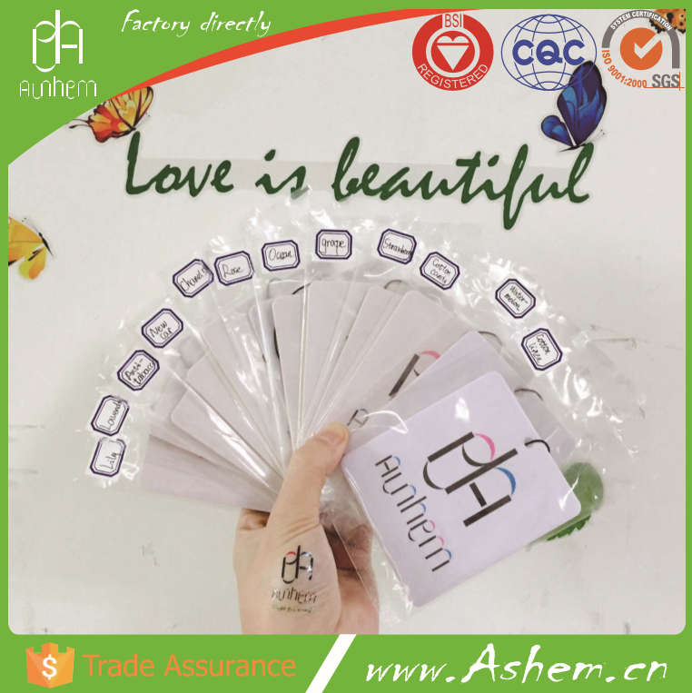 The best selling cair freshener cards with logo printing-IC 1017