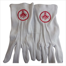 latex glove raw materials embroidery Masonic Gloves