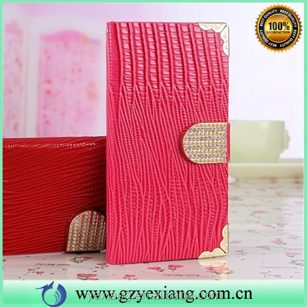 Diamond Wallet Leather Case For Samsung Galaxy S5 Active With Card Slot