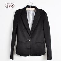 New Fashion Women Candy Color Basic Coat Slim Suit Jacket Blazer 6 Colors