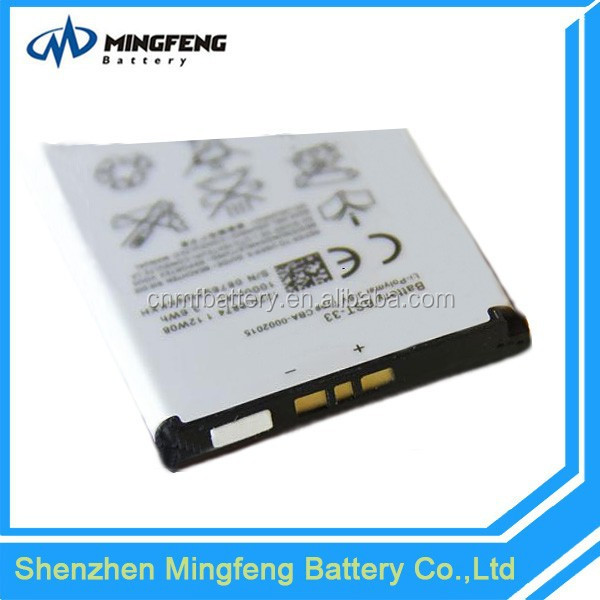 Hot Sale 1000mAh BST-33 Battery,3.7V C901/K800/W900 Li-ion Battery for Sony Ericsson