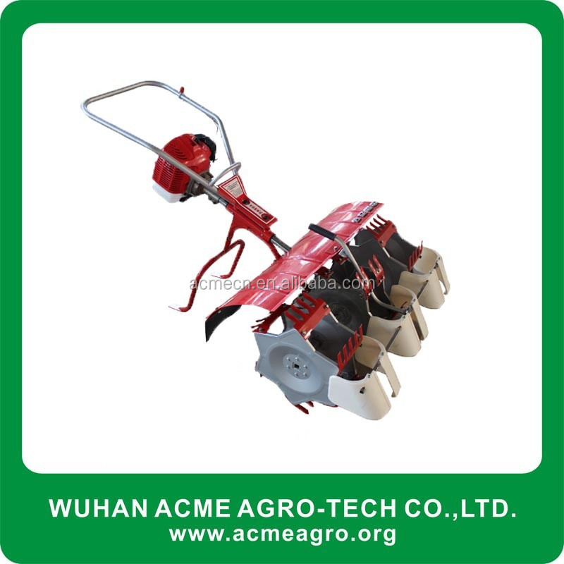 2 row paddy weeder Mini Power Tiller Paddy Field Rice Weeder