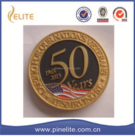free sample custom soft enamel metal coin,double plated gold coin for souvenir