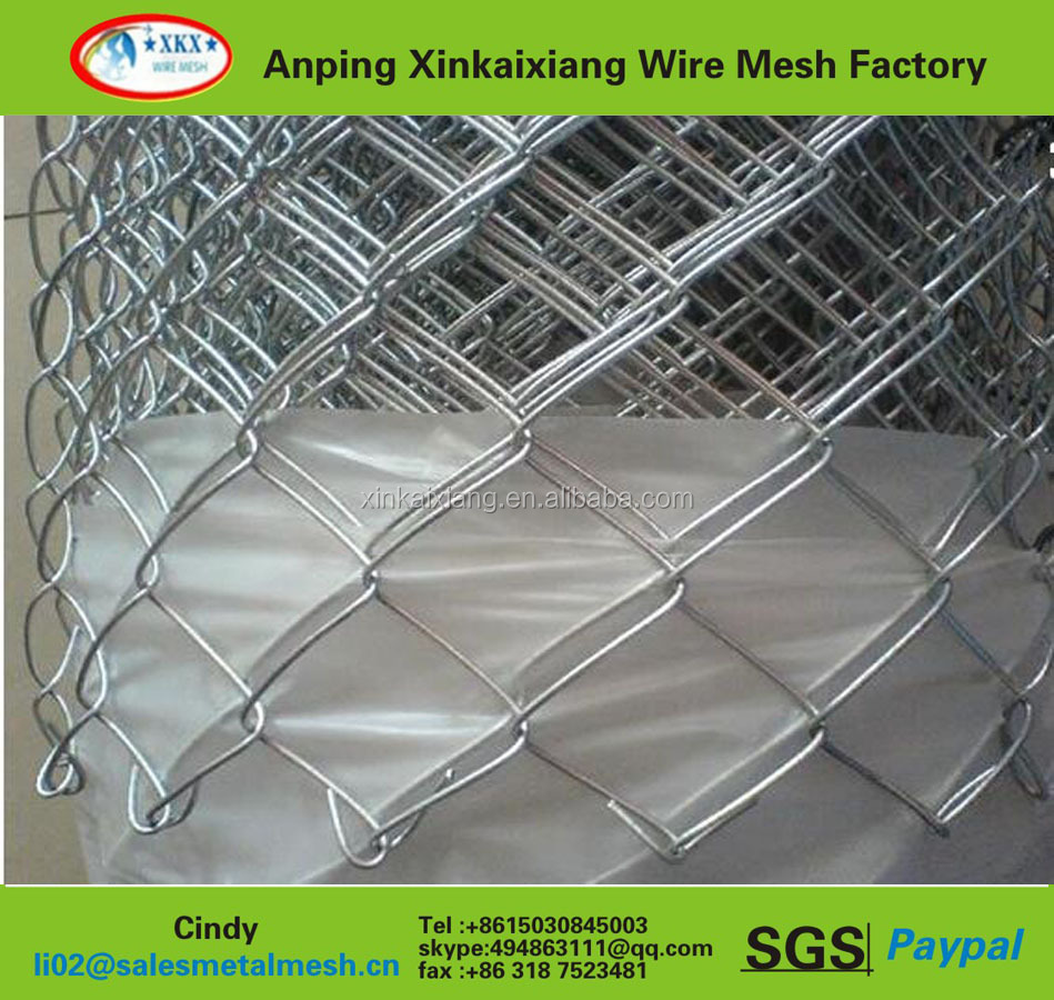 cheap pvc coated chain link animal fence playground protecting fence soccer field enclosure mesh fence (China manufacturer)