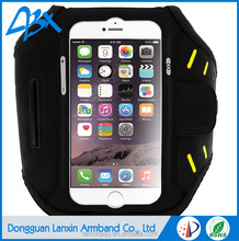 Fctory price high quality neoprene and Lycra fabric material durability armband case for iphone 6s plus sports armband