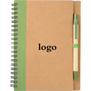 PROMO Custom Eco Spiral Notebook with Pen