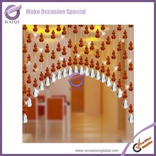 k4246 wedding for home decoration orange clear crystal curtain